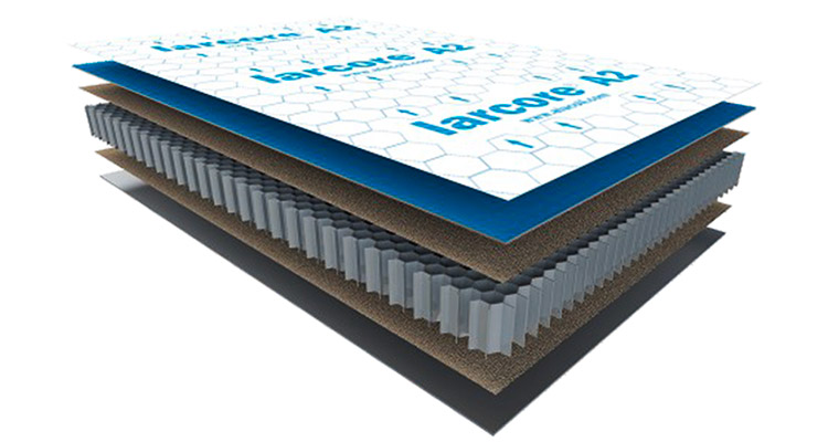larcore® A2 honeycomb panel